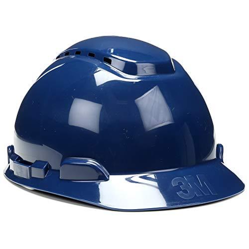 3M Hard Hat, Navy Blue, Lightweight, Vented, Adjustable 4-Point Ratchet, H-710V