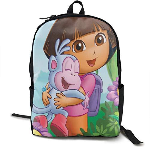 AOOEDM Qatdesy Dora The Explorer Mochila Escolar Ligera, Mochila clásica Unisex, Bolsa para portátil, Bolsa de Viaje