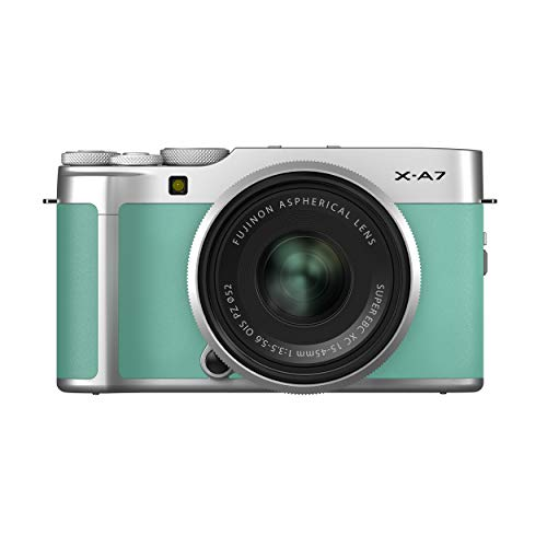 Fujifilm X-A7 Mirrorless Digital Camera w/XC15-45mm F3.5-5.6 OIS PZ Lens, Mint Green