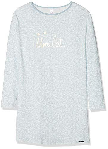 Skiny Mädchen Lovely Dreams Sleep Girls Sleepshirt Langarm Nachthemd, Mehrfarbig (Celestialblue Garden 6170), 140