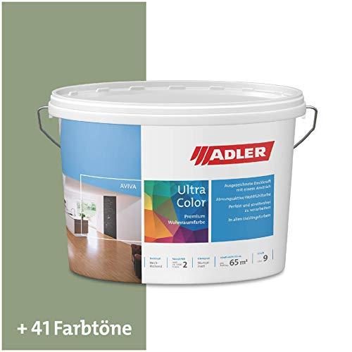ADLER Ultra-Color Wandfarbe - Volltonfarbe und Abtönfarbe in 100+ Farbtönen - RAL6021 Blassgrün Grün 3 l Atmungsaktiv, Hochdeckend, Lösungsmittelfrei