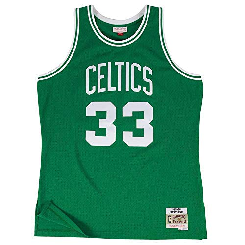 Mitchell & Ness Boston Celtics Larry Bird 33 Kelly Green Replica Swingman Jersey 2.0 NBA HWC Basketball Trikot