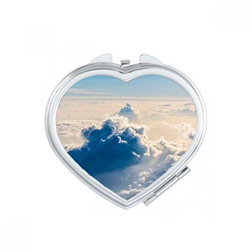 DIYthinker Big Ben Nuages Bleu Sky Coeur Maquillage Compact Miroir de Poche Miroirs Mignon Petit Cadeau Portable à la Main Multicolor