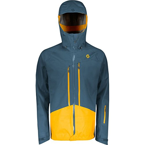 Scott Explorair 3L Kapuzenjacke–Herren, Herren, Nightfall Blue/Harvest Yellow, X-Large