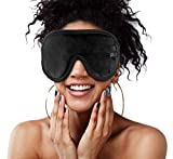 Sleep Mask for Women and Men – Super Comfortable for Sleeping Travel Naps - 3D Contoured Sleeping Mask & Blindfold Blocks Light 100% - No Pressure on Eyes, Soft Fabric, Adjustable Strap, Black