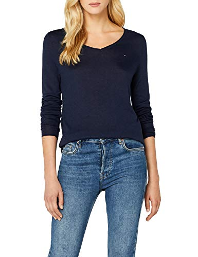 Tommy Jeans Basic VN Sweater met lange mouwen voor dames, regular fit, trui