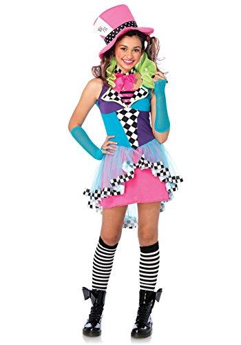 Leg Avenue J49102 - Mayhem Cappellaio Costume Set, 3 Pezzi, Taglia M / L, Multicolore