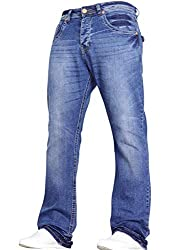 New mens STRETCH Bootcut jeans by VON DENIM made with a wide fitting leg Two great colours to choose from, special washing techniques used to give a unique finish Built to last. Made with durable STRETCH material, these jeans will allow you to move w...