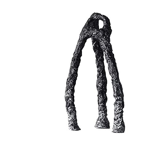 Escultura Escultura Adornos Regalos conmemorativos Decoración de escritorio Adornos modernos Adornos art déco Esculturas pequeñas art déco Esculturas decorativas negras Estatua de alta resina de31cm