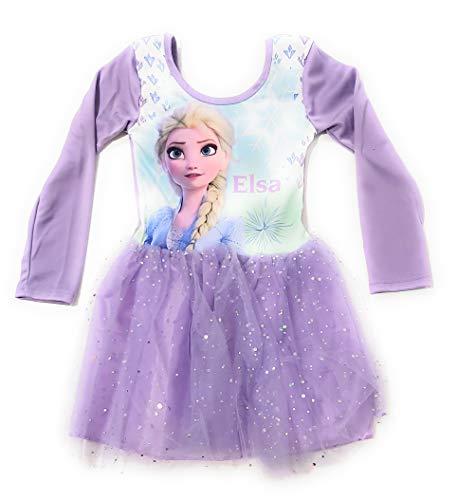 Vestido Elsa Frozen Disney Fantasa - Vestido Disney Frozen Elsa Maillot de Ballet con tut Brillante (7-8 aos)