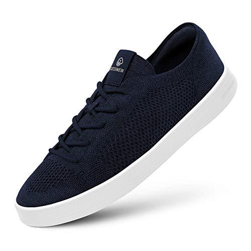GIESSWEIN Wool Sneaker Men - Platform Herren Schuhe, Low-Top Halbschuhe, Freizeit Sneakers aus Merino Wool 3D Stretch, Superleichte Schnürer