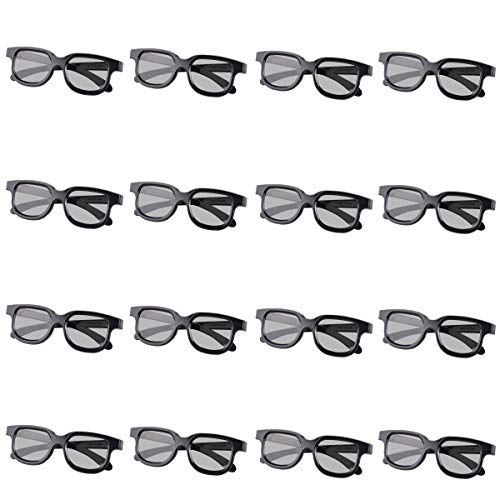 GELETE 3D Glasses for Movies Passive Unisex Passive 3D Glasses for LG, Panasonic, Vizio and All Passive 3D TVs & RealD 3D Cinema Glasses (12 Pack Give 4 Pack)
