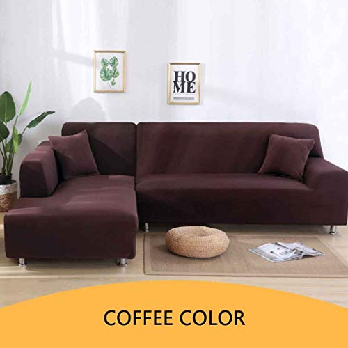 Sofa Cover L-vorm bank hoes Pet beschermer Anti-slip Vlekbestendig Machine Washable Furniture Protector Moderne hoekbank Covers (twee/drie/vier Seaters + twee/drie/vier Seaters)
