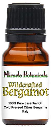 Miracle Botanicals Wildcrafted Bergamot Essential Oil - 100% Pure Citrus Bergamia - 10ml or 30ml Sizes - Therapeutic Grade - Italy 10ml