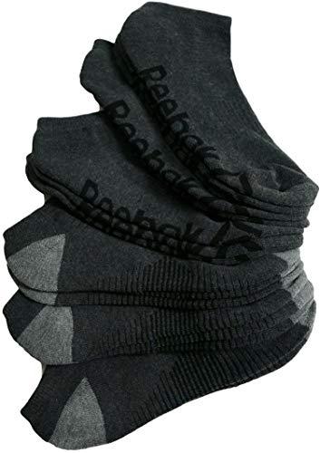Reebok Mens Low-Cut Socks Performance Training 8 Pairs, Size 10-13 (Gray)