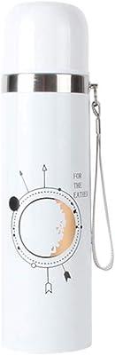 LIRIDP 保温ポット ステンレス鋼製真空断熱ウォーターボトル、冷たい飲み物のための二重壁デザイン、無毒のBPAフリー、アウトドアスポーツ用、仕事用、旅行用 (容量 : 500ML, パターン : A)