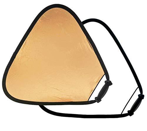 Manfrotto LLLR3641 - Reflector TriGrip de 85 cm, Oro/Blanco