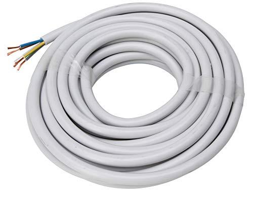 Kopp Meter Schlauch-Leitung 5 adrig, H05 VV-F 5 G 1,5 mm² (10 m) für Flexible Verlegung, 300V/500V, Strom-Kabel für mittlere Beanspruchung, grau, 153810844