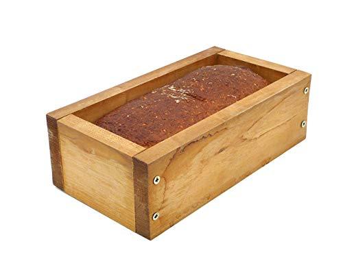 Holzwerk Premium Brot-Backform aus hitzebeständigem massivem Ahorn-holz – hochwertiger Brot-Backrahmen inkl. Rezept– natürlicher Holz-backrahmen – Handarbeit – Made in Germany