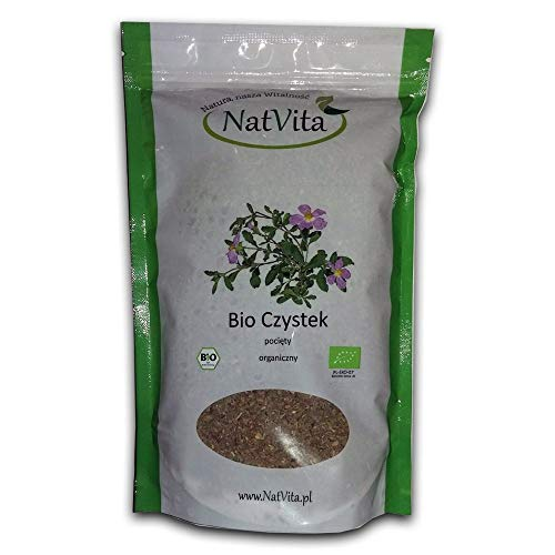 Cistus Incanus 100% Bio Organique Herbs, BIO Certified Czystek 250g 0.55lb