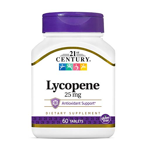 21st Century Lycopene 25 mg Tablets, 60 Count (22400)