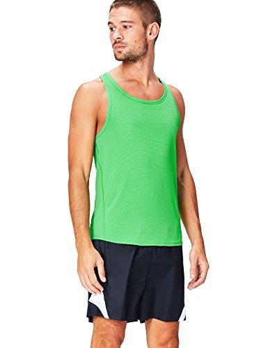 Activewear Canotta Sportiva in Rete Uomo, Verde (Apple Green), Medium