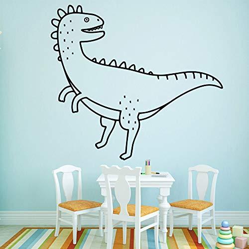 Leuke Dinosaur Muurstickers Zelfklevende Art Wallpaper voor Kids Kamer Woonkamer Decor Woondecoratie Accessoires Muurstickers XL 58cm X 64cm Grijs
