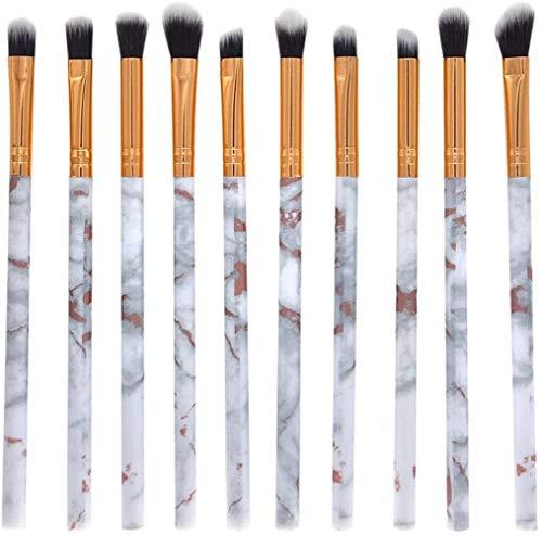 PGE Maquillage Brosse Ensemble 10 Pcs Professionnel Visage Ombre À Paupières Eyeliner Fondation Blush Lèvres Maquillage Brosses Poudre Cosmétiques Mélange Brosse Outil, Blanc