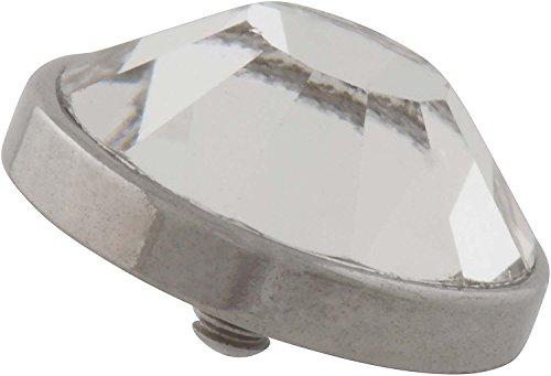 PIERCINGLINE Titan Piercing Dermal Anchor Aufsatz | DISC + KRISTALL | Ersatz Farbauswahl