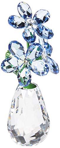 Swarovski Blumenträume - Vergissmeinnicht Figur, Kristall, Mehrfarbig, 6.9 x 2.9 x 3.2 cm