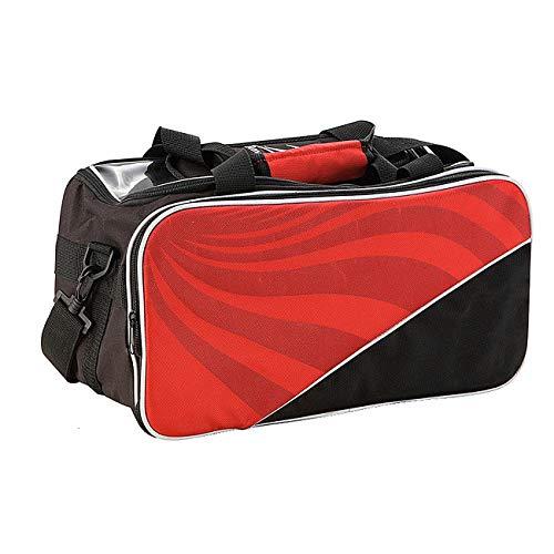 Mitrc Bowling Bag Für Single Ball - Single (Double Ball Tote Bag) Für 2 Bowling Bag-Taschen Mit Reißverschluss Vorne - Trag- Und Schultergurte