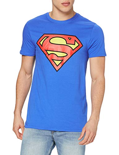 DC Comics DC COMICS Herren Superman Logo T-Shirt, Royalblau, 2XL