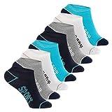 Footstar Kinder Sneaker Socken (8 Paar ) Bunte Kurzsocken für Mädchen und Jungen - 35-38