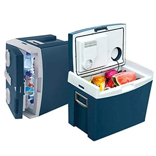 35 litres Réfrigérateur, 1 étagère, Poignées sur les deux côtés, Mini-frigo Mini électrique Réfrigérateur Cooler et plus chaud, boissons Fruit Réfrigérateur Voyage voiture camion, bateau