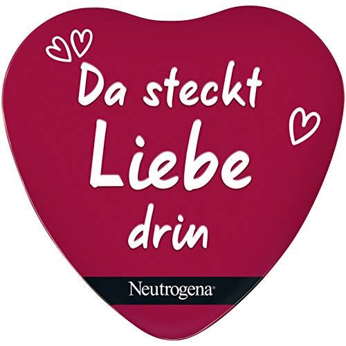Neutrogena Geschenkset, Norwegische Formel, mit Handcreme unparfümiert, Deep Moisture Sofort einziehender Bodylotion und Feuchtigkeitscreme, Pflege Set in Herzform