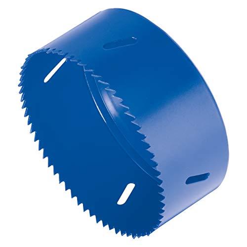 LUX-TOOLS Comfort Lochsäge zum Schneiden von Löchern mit einem Durchmesser von 102 mm   Bohraufsatz für Akkuschrauber und Bohrmaschinen mit max. 1500/min (Umdrehungen)   Aus robustem Stahl