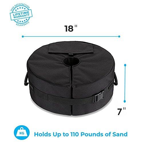 46cm Durchmesser Outdoor Zelt Sandsack liefert Feste Werkzeug Tasche abnehmbar Gewicht Pavillon Sandsäcke für Terrasse Schirmständer Zelt Sandsäcke Werbung