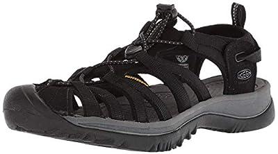 KEEN Women's Whisper Sandal, Black/Magnet, 8.5 M US