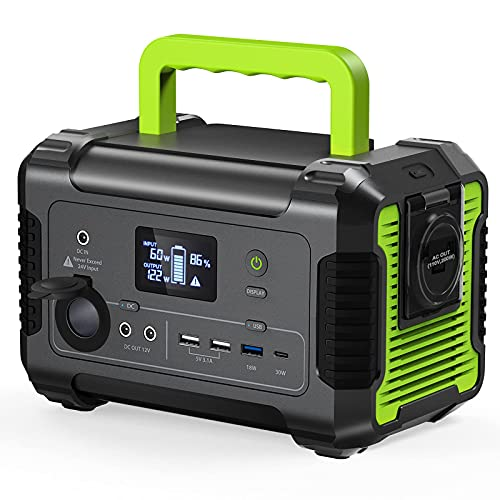 PAXCESS Portable Power Station 200W, 230Wh/62400mAh Emergency Backup Lithium Battery, 110V Pure Sine Wave AC Outlet, QC 3.0, USB-C PD Input/Output, Solar Generator for Home/Outdoor Camping (Renewed)