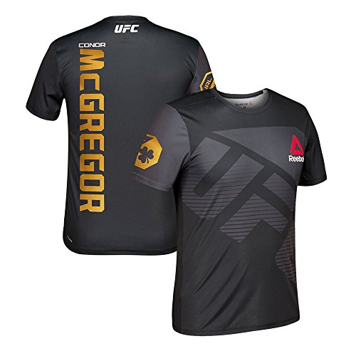 adidas Conor McGregor Reebok UFC Official Champion Blk Fight Kit Walkout Jersey Men's