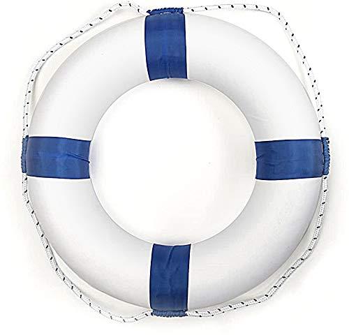 motawator 20inch/51cm Diameter Swim Foam Ring Buoy Swimming Pool Safety Life Preserver W/Nylon Cover Kid Child Adult