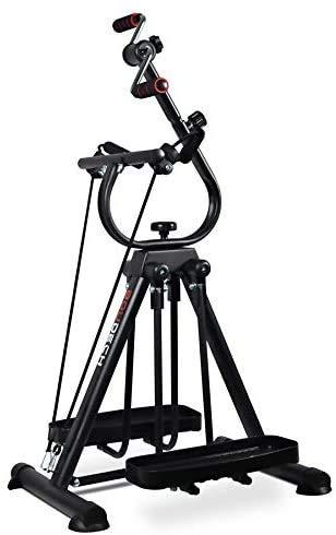 Mini bicicleta estática bicicleta pedalier plegable para rehabilitación muscular brazos y piernas (bicicleta)