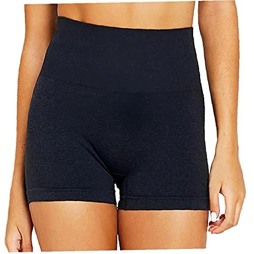 Naisicatar Yoga Shorts Frauen Kurze Gamaschen Anti-licht Mit Hoher Taille Workout Tights Training Pants Shorts Tights Training Pants Rosa XL