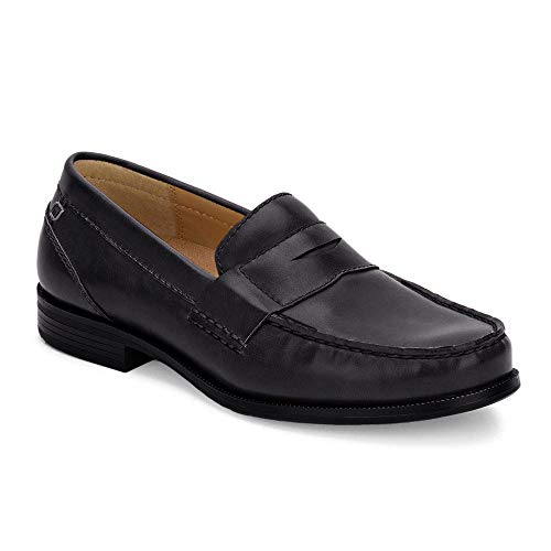 Dockers Mens Colleague Dress Penny Loafer Shoe, Black, 9 M