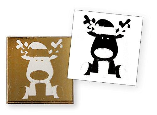Artoz Crea Motions Stempel Christmas Rudolf 137606-55 Größe: 42 x 106 mm Bastelstempel, Weihnachtlich, Winterzauber
