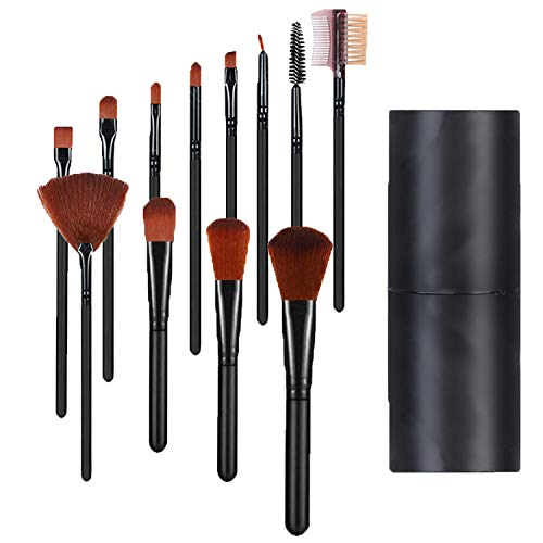 Make Up Pinsel Set, 12 Stück Kosmetikpinsel, Foundationpinsel Lidschattenpinsel Gesichtspinsel...