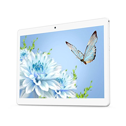 Android Tablet 10 inch with Dual Sim Card Slots YELLYOUTH 10.1' IPS MTK Octa Core 4GB RAM 64GB ROM WiFi Bluetooth GPS 3G Unlocked Phone Tablet PC (Silver)