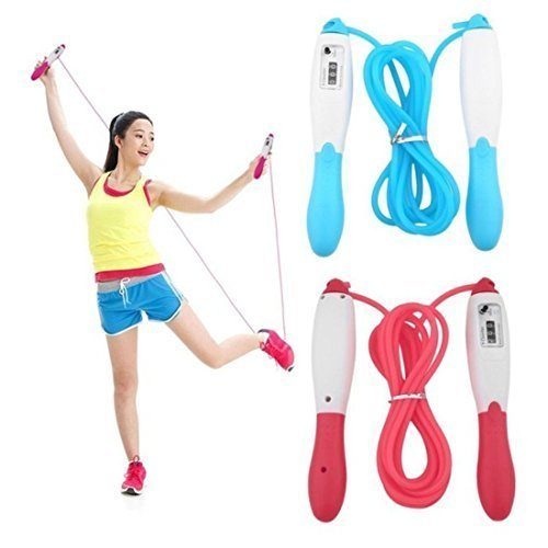 RPM Sports Digital Counting LCD Jump Skipping Rope Electronic Counter Professional Skipper(Pack of 2) Colour by Assorted