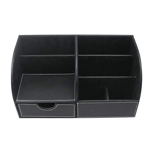 GFDFD Storage Box-Office Desk Organizer, Caja de Almacenamiento de Escritorio de Cuero Multifuncional, Office Accessories Organizer-Business Card, Pen, Pencil