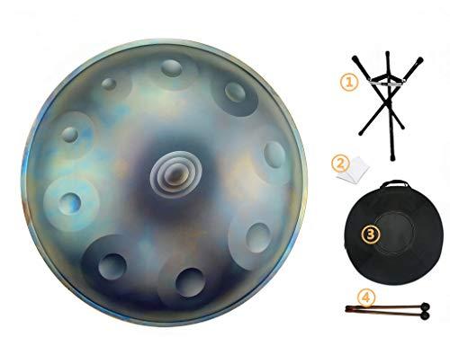 Drums Harmonic Handpan 10 Noten Steel Drum Percussion, 22Inch / 56Cm Chakra Drum, Für Musik Und Klangheilung Religion, Mit Soft Bag Star